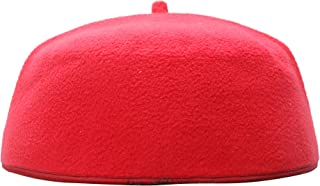 TheKufi Handmade Red Fez-style Kufi with Tip Prayer Cap Hat