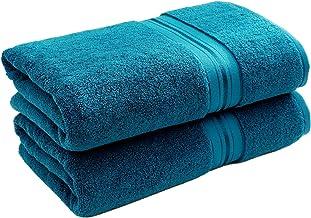 900 GSM 100% منشفة حمام كبيرة الحجم - مناشف حمام فاخرة ثقيلة الوزن وذات قدرة على الامتصاص في فندق سبع نجوم في دوبي، 28 × 6...