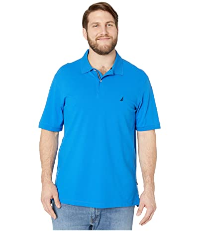 Nautica Big & Tall Big Tall Short Sleeve Solid Deck Shirt (Blue 1) Men
