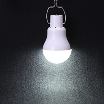 KK.BOL Solar Lamp Portable LED Light Bulb Solar Panel Powered Rechargeable Lantern Lights Lamps for Pet House Shed Ba...