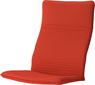 IKEA POANG Chair Cushion, Knisa Orange red/Orange (Cushion Only)