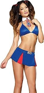 Women's Suk Yu Mi Halter Bra Top Pleated Mini Skirt And G-String