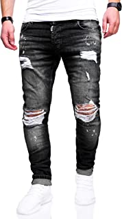 5b10b2221aa170 Herren Destroyed Stretch Jeans-Hose Used Slim-Fit 80-2369