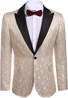 28d6202103c8 Mens Coofandy Casual Floral Party Dress Suit Slim Fit Stylish Jacket Wedding  Blazer