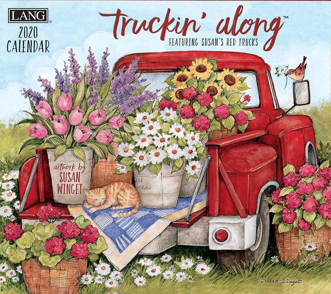 購入かかわらず深さLANGウォールカレンダー2020 Truckin' Along