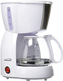 Brentwood TS-213W 4-Cup Coffee Maker (White)