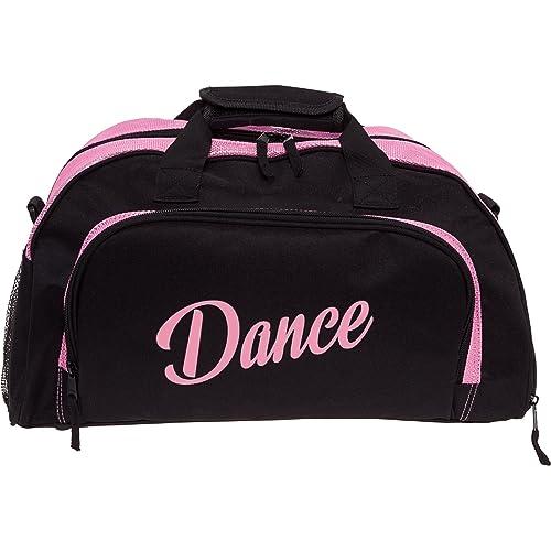 Silver Lilly Womens Nylon Dance Duffel Gym Bag w Shoe Compartment  (Black Pink e579bcd8e8d49
