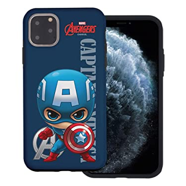 WiLLBee Compatible with iPhone 11 Pro Max Case (6.5inch) Layered Hybrid [TPU + PC] Bumper Cover - Mini Captain