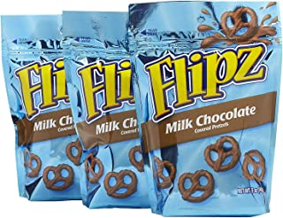 Flipz Milk Chocolate Covered Pretzels 5 Oz - 3 Pack
