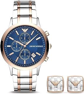 Emporio Armani Men's Chronograph Multicolor-Tone Stainless Steel Watch AR80025