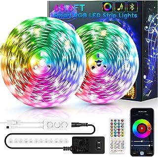 65.6ft LED Strip Lights Bluetooth, Ultra-Long Smart RGB LED Light Strip Music Sync 600 LEDs 5050 SMD Color Changing LED St...
