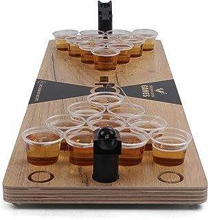 Grown Man Games Mini Beer Pong - Drinking Game - Party Game - Beer Game - Tabletop Beer Pong Table - Mini Pong Mini Game - Tabletop Beer Pong Set