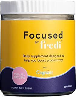 Focused by Fredi for Women - All-Natural - Promotes Focus and Memory