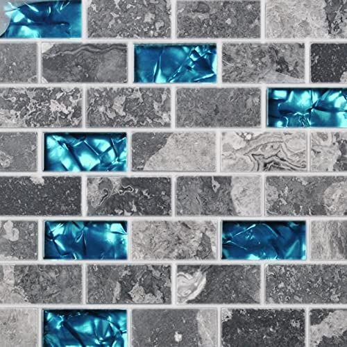 Blue Subway Tile Amazon Com
