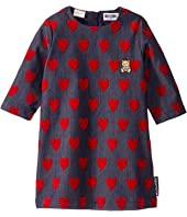 Moschino Kids - Denim Dress w/ All Over Hearts Print (Little Kids/Big Kids)