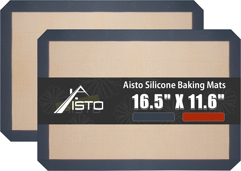 Silicone Baking Mats Set of 2 Baki Reusable Safe Non-Stick 5 ☆ very popular Nashville-Davidson Mall Food