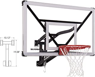 "Silverback NXT 54"" Wall Mounted Adjustable-Height Basketball Hoop with QuickPlay Design"