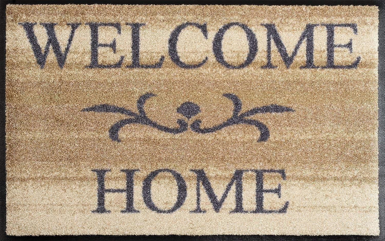 Wash+dry 009610 Fußmatte Welcome Home, 50 x 75 cm, beige B0012E22EU