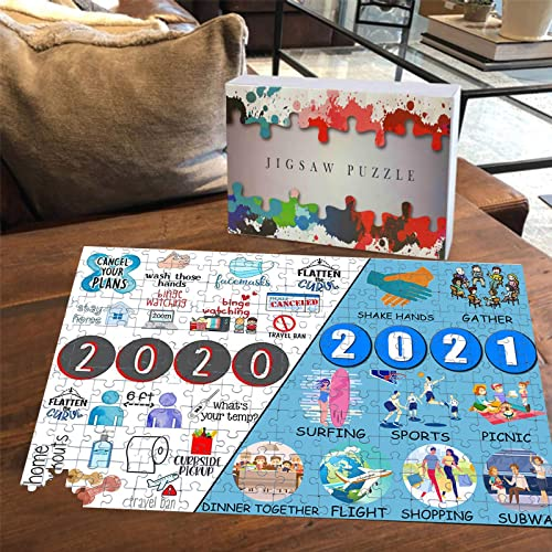 """wholesale OPTIMISTIC Jigsaw Puzzles high quality 1000 high quality Pieces for Adults -Paper Puzzles Pieces, Stress Relief Educational Toy for Kids, Beautiful Packing Box, 29.5"""" x 19.7"""" - Past 2020 & Future 2021 outlet sale"""