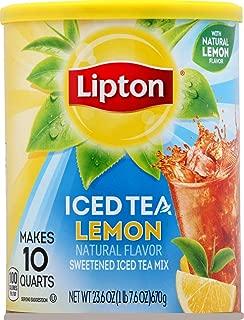 Lipton 10 Quart Sweet Black Iced Tea Lemon Mix