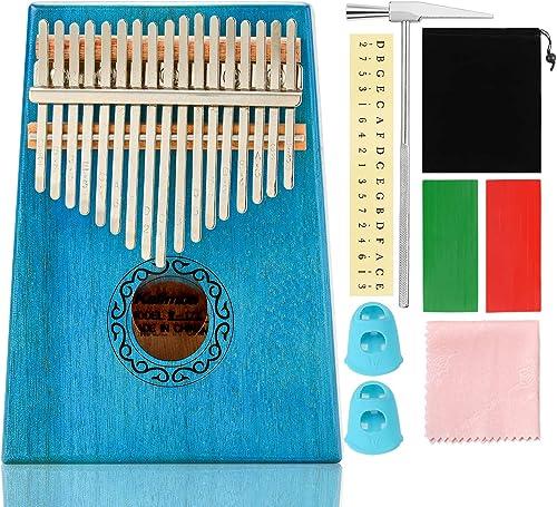 ZITFRI Kalimba Instrument Kalimba Pouce Piano 17 Cles Instrument de Musique du Monde Piano a Doigt Kalimba Africain p...