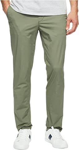 Slim Fit Stretch Cotton Twill Trousers