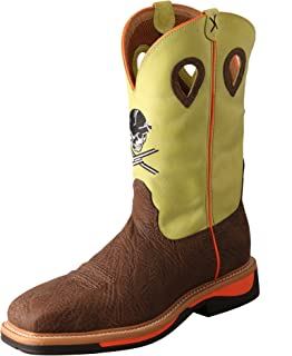 Twisted X Mens Lite Cowboy Yellow Work Boot