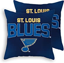 Blues2019 Stanley-Cup Throw Pillow Covers Pillow Cases Standard Set Pack of 2 Cotton Linen Zippered Pillowcase for Car 18 x 18 (Blues 3)