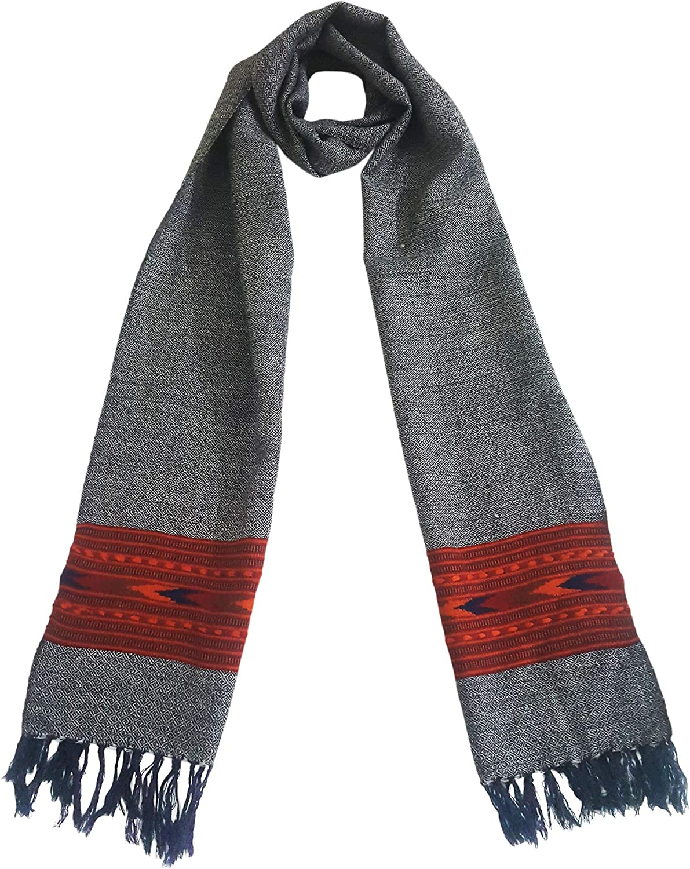 Mehrunnisa Handcrafted Premium 100% Pure Wool Muffler  Unisex