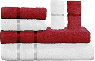 Story at Home Towel Set, Scarlet Red/Milky White, TW_1201-1215_Z, 6 Pieces