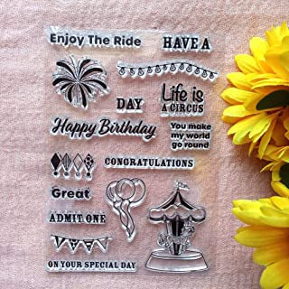 GAWEI Congratulations Happy Birthday Clear Stamps for Card Making and DIY Scrapbooking Transparent Stamps Silicone Stamps ...