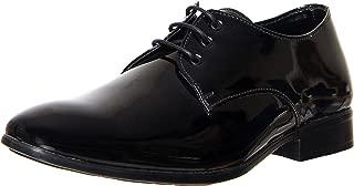 ZAPATOZ Men's PU Formal Lace-Up Shoes_(9803-Black)
