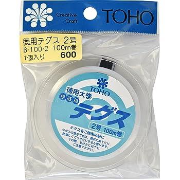 TOHO テグス 太さ約0.23mm×約100m巻 2号 スキ 6-100-2