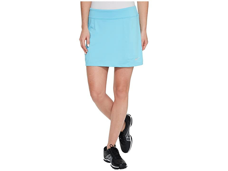Nike Golf 14.5 Solid Knit Skort (Vivid Sky/Metallic Silver) Women