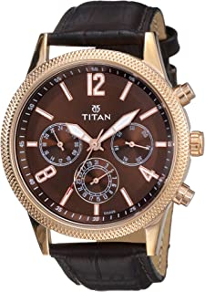 Titan Neo Analog Brass Dial Men's Watch NM1734WL01 / NL1734WL01