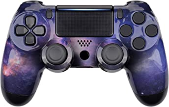 eXtremeRate® Nubula Galaxy Faceplate Cover, Hydro Dipped Front Housing Shell Case, Replacement Kit for Playstation 4 PS4 S...
