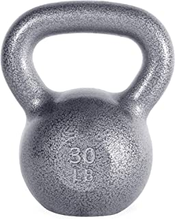 WF Athletic Supply Hammerstone Cast Iron Kettlebell - 13, 10-80 Pounds - Core Strength, Functional Fitness, and Weight Tra...
