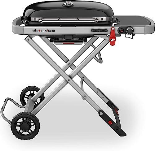 Weber-9010001-Traveler-Portable-Gas-Grill,-Black