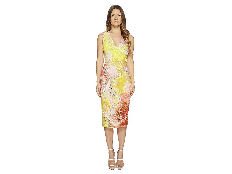 FUZZI Sleeveless V-Neck Dress Close Botanic (Sole) Women