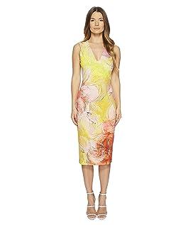 Sleeveless V-Neck Dress Close Botanic