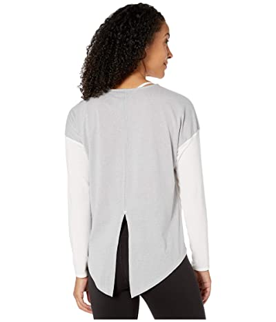 The North Face Workout Novelty Long Sleeve (TNF White/TNF Light Grey Heather) Women