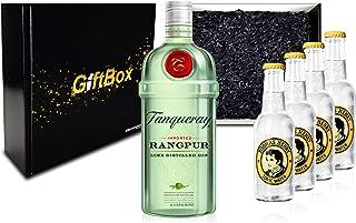 Gin Tonic Giftbox Geschenkset - Tanqueray Rangpur 0,7l 700ml 41,3% Vol  4x Thomas Henry Tonic Water 200ml inkl. Pfand MEHRWEG  Geschenkverpackung