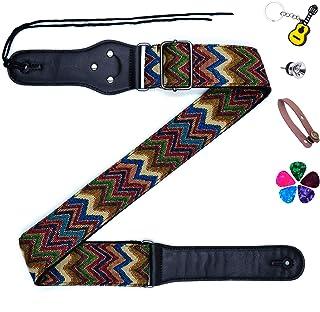 Acoustic Guitar Straps Nylon Woven Guitar Strap,Acoustic Guitar Strap Vegan Suitable for Electronic bass,Acoustic Guitar a...