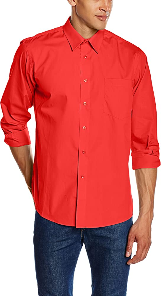 Fruit of the loom, camicia per uomo,in 55% cotone, 45% poliestere 65-118-0