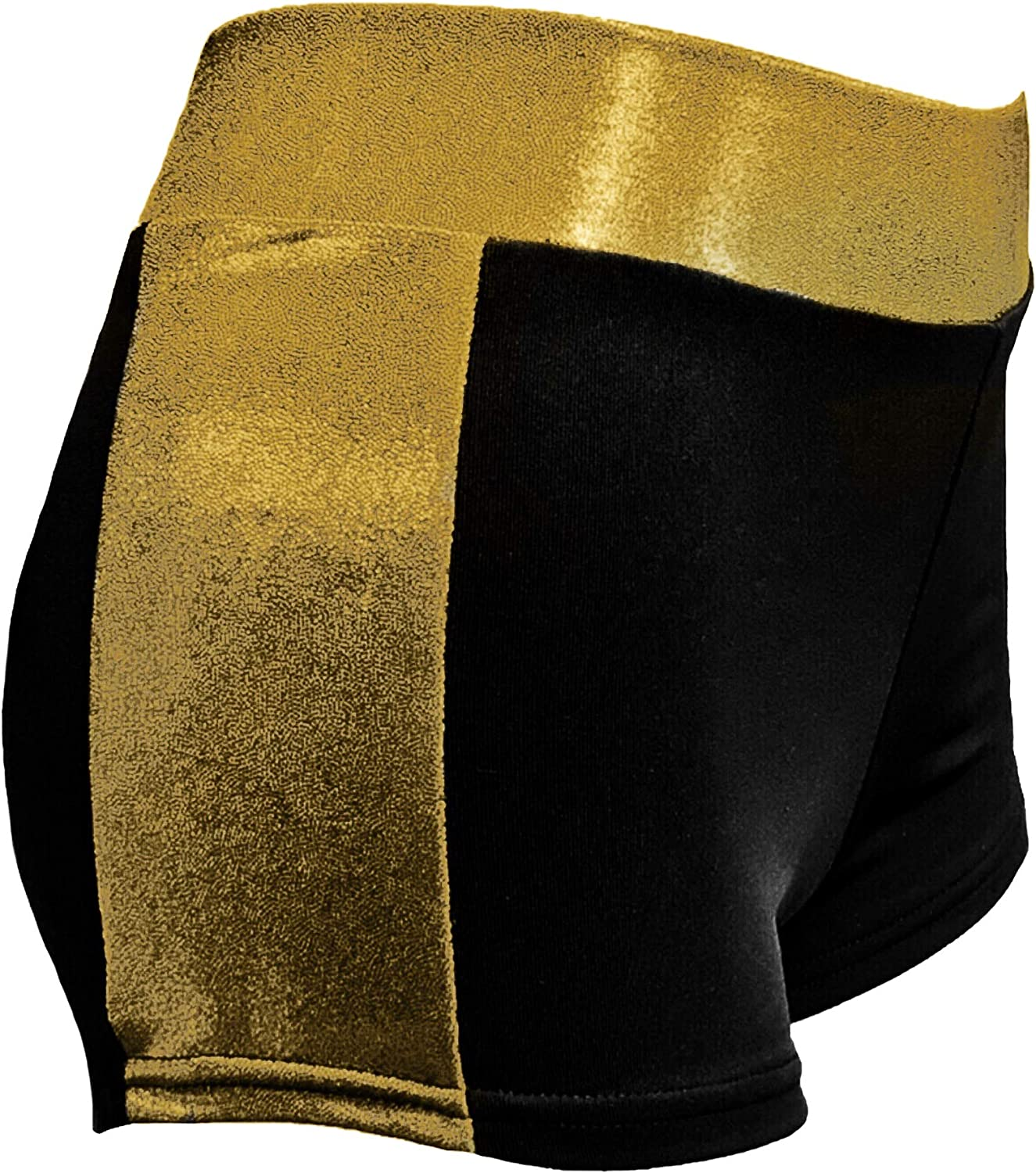 Sookie Active Athletic Shorts with Metallic Waistband and Side Stripes (Ladies)