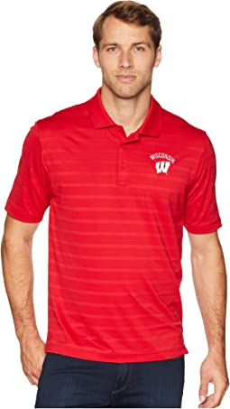 Wisconsin Badgers Textured Solid Polo