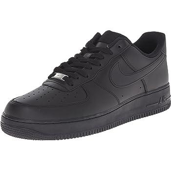 Escepticismo Máquina de escribir Adelaida  Amazon.com   Nike Mens Air Force 1 Retro Low Basketball Shoe  Black/Black-White   Basketball