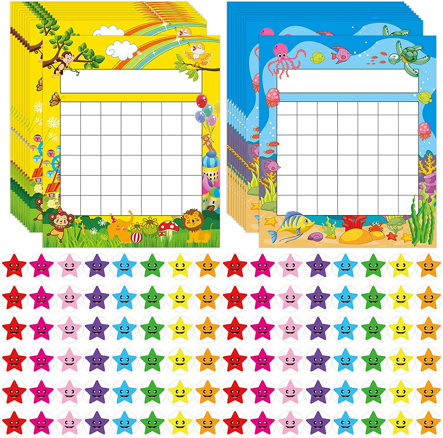 Pack of 66 Incentive Chart Max 43% OFF with Star Reward Award-winning store for 2080 Ki Stickers