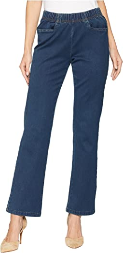 Petite D-Lux Denim Pull-On Suzanne Bootcut