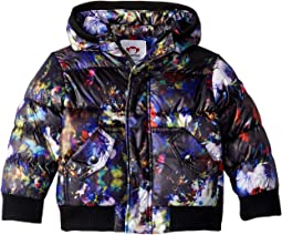 Floral Print Hooded Puffy Coat (Toddler/Little Kids/Big Kids)